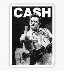 Johnny Cash mit Logo Sticker