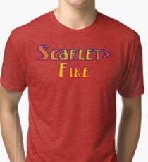 Deadheads Concert Tour Lot Scarlet>Fire Scarlet Fire, Once in Awhile Tri-blend T-Shirt