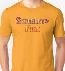 Deadheads Concert Tour Lot Scarlet>Fire Scarlet Fire, Once in Awhile Unisex T-Shirt