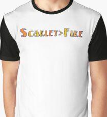 Deadheads Konzert Tour Lot Scarlet> Feuer Scharlachroten Feuer, Einmal in der Zwischenzeit Grafik T-Shirt