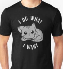 Ich tue, was ich will Sassy Cat Slim Fit T-Shirt