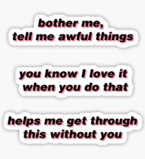 Awful Things Lyrics Sticker Set | Lil Peep Merch Sticker