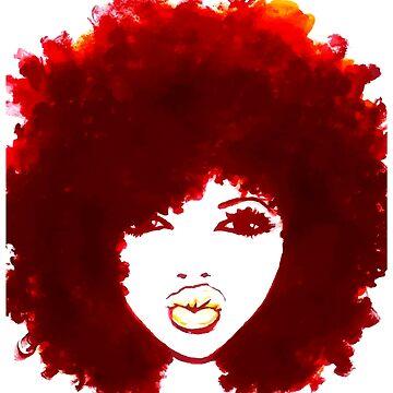 Natural Hair Curly Hair Autumn Afro Tshirt/Tees T-Shirt by EllenDaisyShop