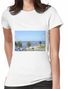 Eastern Beach Geelong Australia. Womens Fitted T-Shirt