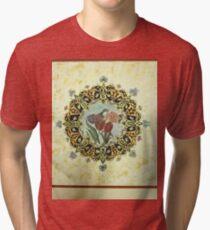 """The Tulip & The Bird"" Miniatures Tri-blend T-Shirt"