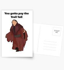 Troll Toll Design  Postcards