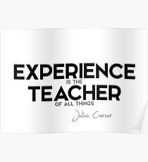 experience is the teacher of all things - julius caesar Poster