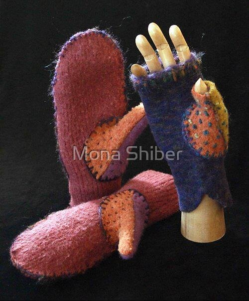 Handemade Mittens and Mittlets by Mona Shiber