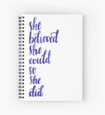 Girl Empowerment Watercolor Quote Spiral Notebook