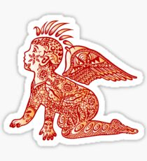 Aztec Child. Sticker