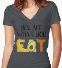 You are what you eat Women's Fitted V-Neck T-Shirt