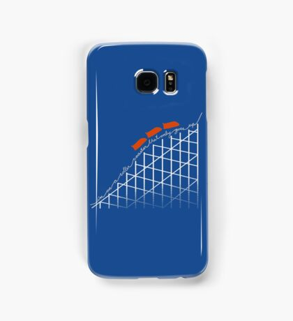 I'm On a Roller Coaster That Only Goes Up (Orange Cars) Samsung Galaxy Case/Skin