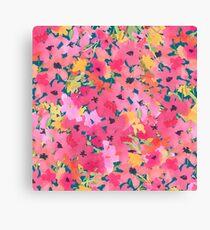 Pink and Peach Garden Canvas Print