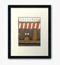 subway barf Framed Print