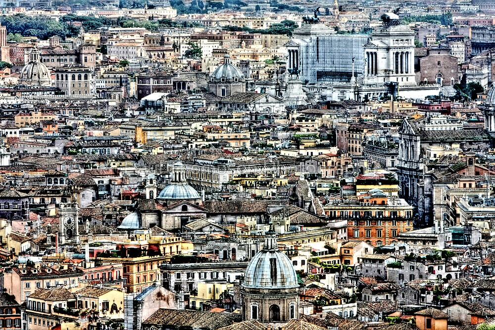 Rome Rooftops HDR by Paul Thompson Photography