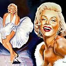Marylin Monroe painting by Star Portraits Soutsos Art