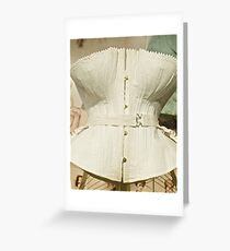 Women's Undergarments, Bra, Girdle, Brazier  Greeting Card