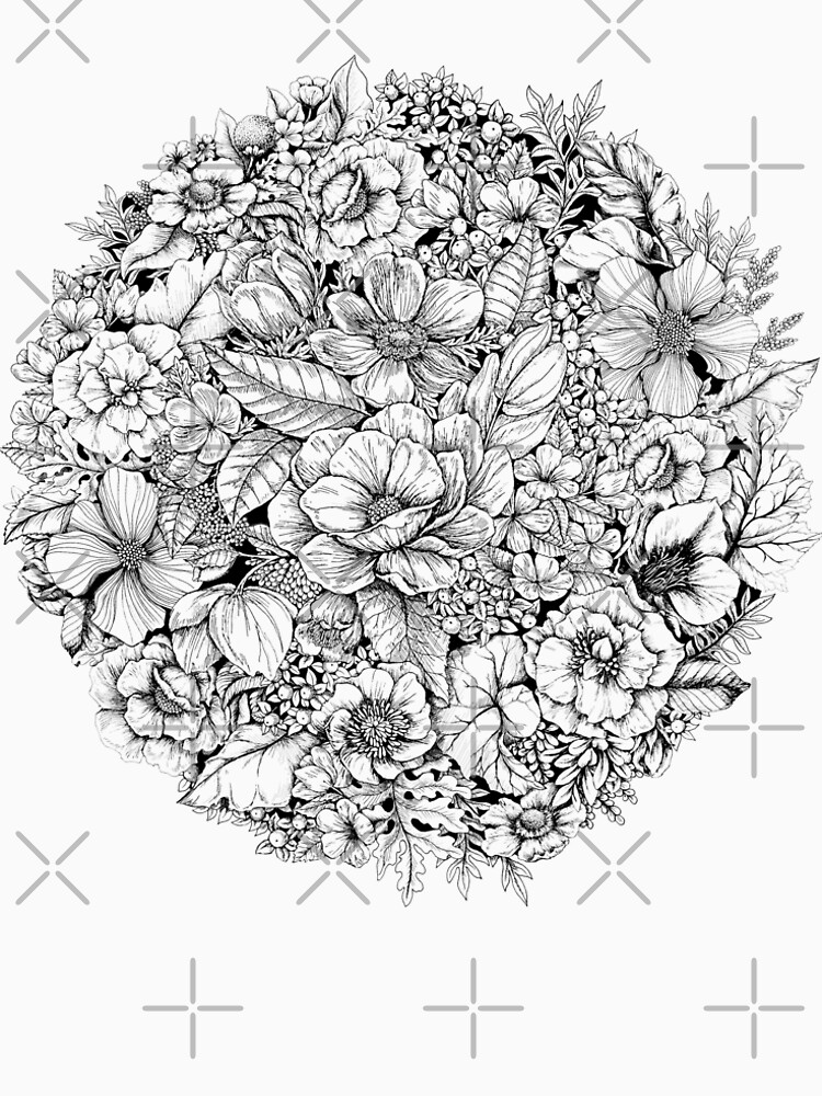 Floral Flower circle  by linnw