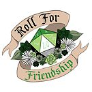 Roll For Friendship! - Aromantic Pride by flailingmuse