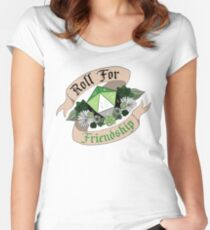 Roll For Friendship! - Aromantic Pride Women's Fitted Scoop T-Shirt