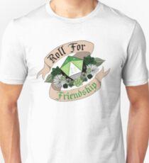Roll For Friendship! - Aromantic Pride Unisex T-Shirt