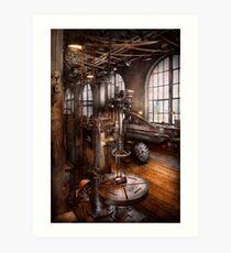 Machinist - Industrial Drill Press  Art Print