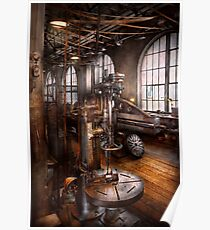 Machinist - Industrial Drill Press  Poster