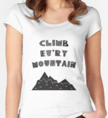 Climb Every Mountain - Sound of Music Scandinavian Women's Fitted Scoop T-Shirt