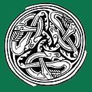 Celtic Art - Dog Triskele by stíobhart matulevicz