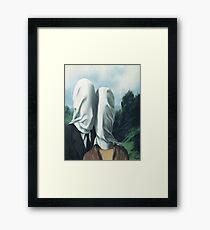 The Lovers I -Rene Magritte Framed Print