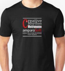 Creative Rhythm Metronome App from amparoSoft Unisex T-Shirt