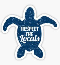 Respect The Locals Sea Turtle Conservation Sticker