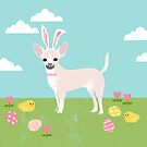 Chihuahua dog breed easter bunny costume pet portrait chihuahuas white coat by PetFriendly