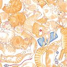sleeping ginger cats everywhere! by EllenLambrichts