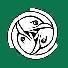 Celtic Art - Bird Head Triskele by stíobhart matulevicz