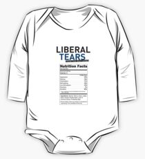 SPECIAL funny Liberal/Democrat Tears From the Salt Mines Logo with supplement facts - Online Store One Piece - Long Sleeve