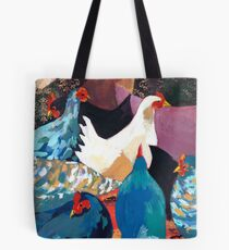 Barnyard Chickens Tote Bag