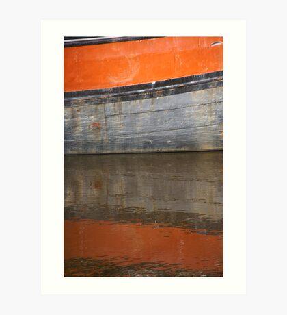 Floating orange Art Print