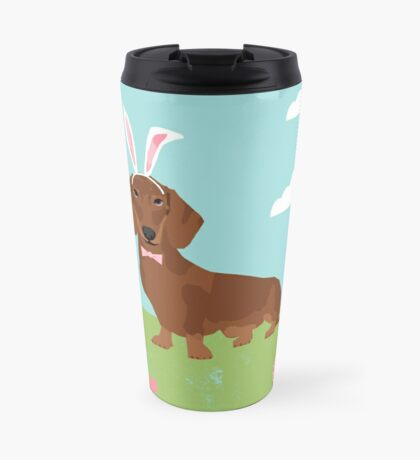 Dachshund dog breed easter pet portrait dog breed gifts pure breed dachsie doxie  Travel Mug