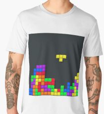 Tetris print design Men's Premium T-Shirt