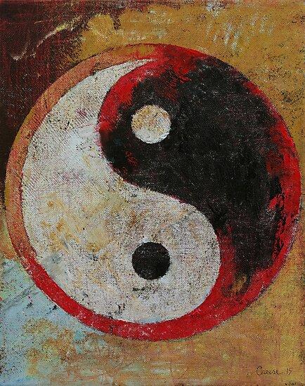 Yin Yang Red Dragon by Michael Creese