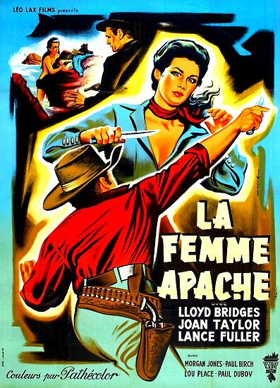 apache woman vintage western movie poster posters by