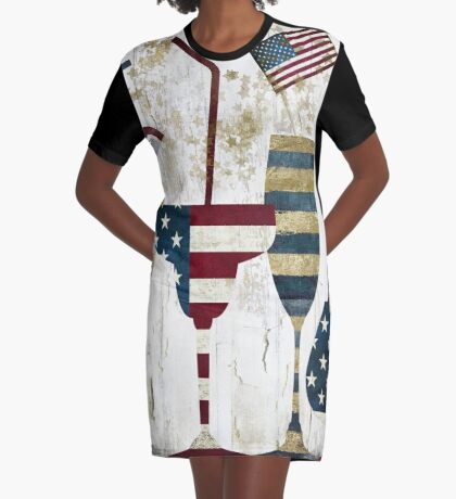 American Party Graphic T-Shirt Dress
