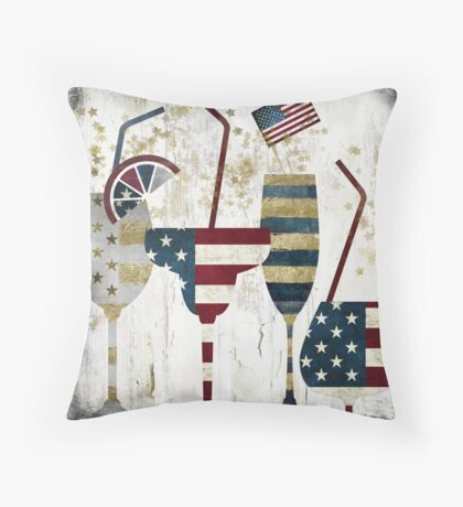 American Party Throw Pillow