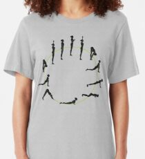 Yoga Sun Salutation Slim Fit T-Shirt