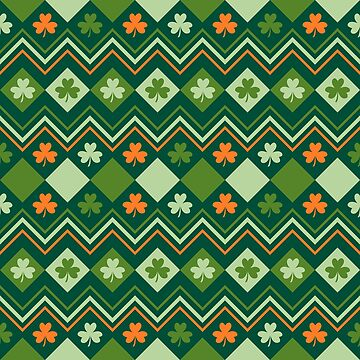 Saint Patrick's Day Irish green pattern by mrhighsky