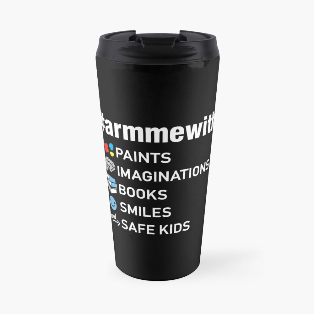 Waffenkontrolle Lehrer Shirt, Arm mich mit Büchern Thermobecher