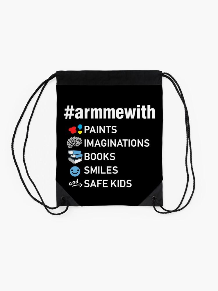 Alternative Ansicht von Waffenkontrolle Lehrer Shirt, Arm mich mit Büchern Turnbeutel