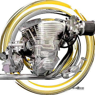 Harley Davidson Shovelhead Magna Supercharged Motorcycle Engine inpired art, Inished Productions by Melimoto