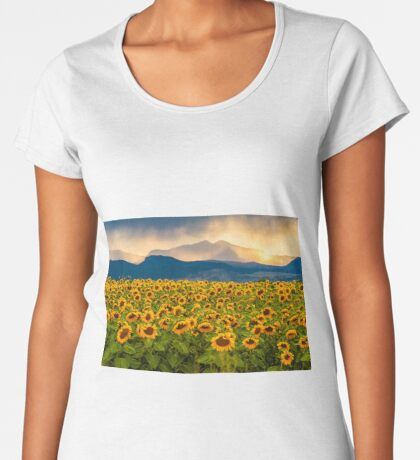 Sunflower Storm Women's Premium T-Shirt